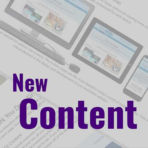 Layout of a new website on multiple devices