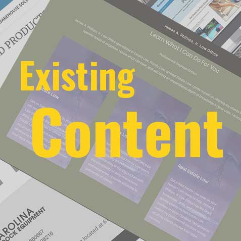 Web page layout box with content