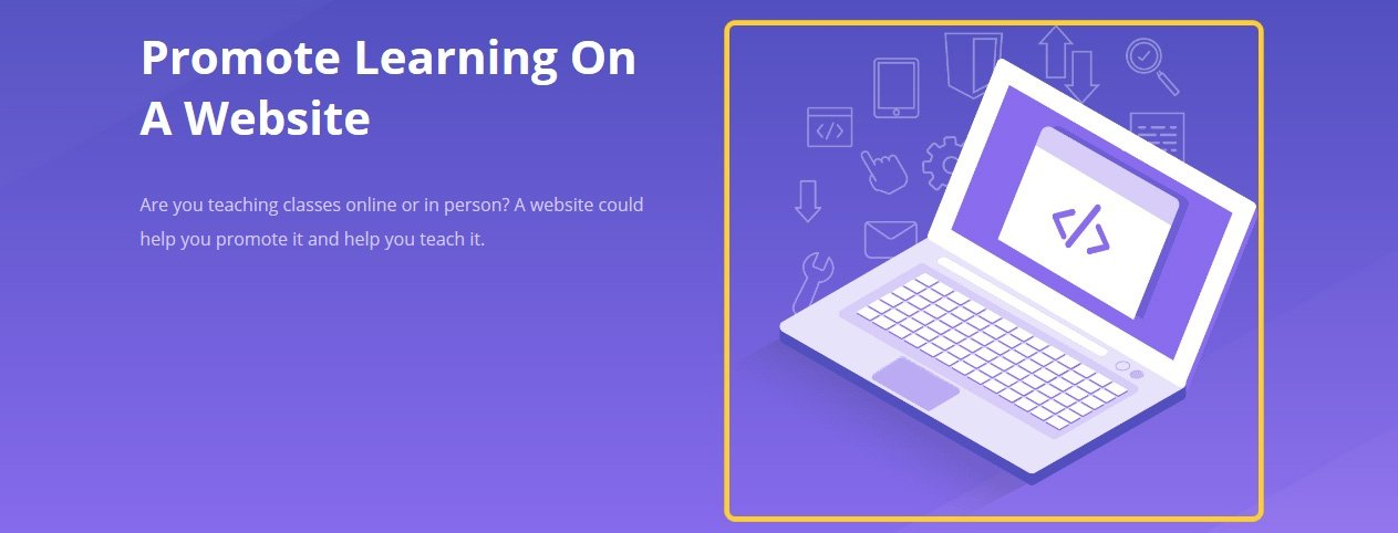 Learning website header