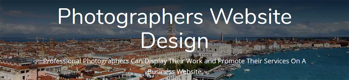 Header of a photographers website