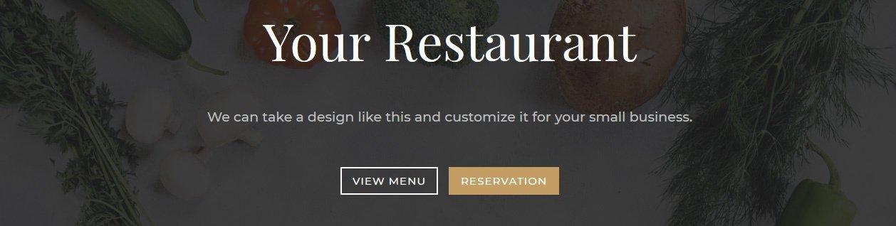 Restaurant website home page header