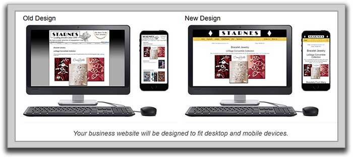 Website Redesign Example for a Jewelry Store