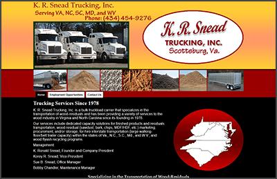 Trucking Company Website Design Example
