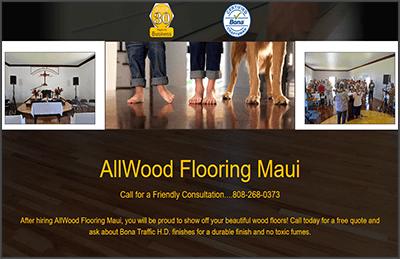 Flooring Company Website Design Example