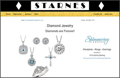 Website Designed for Starnes Jewelers
