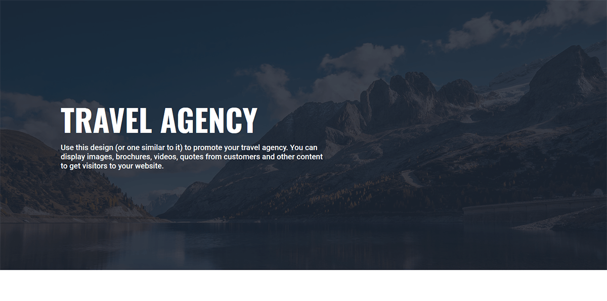 Travel Agency Business Website Example