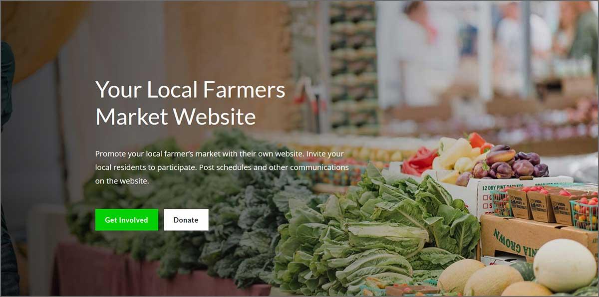 Farmers market web design
