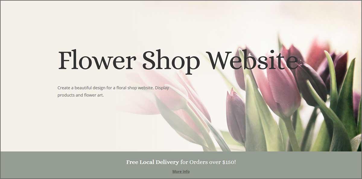 Flower Shop site example